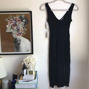 NWT Aritzia Babaton Broderick black dress XXS